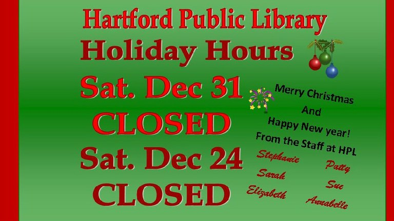 2016 Holiday Hours