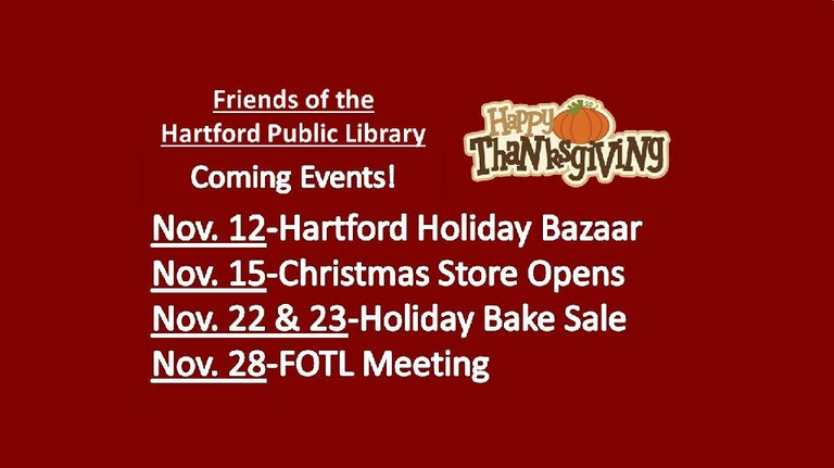 FOTL Nov. Events
