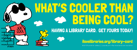 Snoopy says get a library card